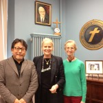 Pastor Enomoto from Japan - an Ashram leader picture of ESJ in the Lovely Lane Museum in Baltimore