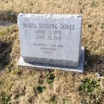 Headstone of Mabel Lossing Jones, wife of ESJ - Mt Olivet Cemetary, Baltimore Maryland